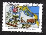 Stamps Honduras -  Departamentos