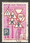 Stamps France -  1548 - Prevención en la carretera