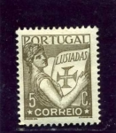 Sellos de Europa - Portugal -  Portugal mirando al volumen de las luisiadas