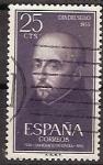 Stamps Spain -  ESPAÑA SEGUNDO CENTENARIO USD Nº 1166 (0) 25C VIOLETA IGNACIO DE LOYOLA