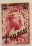 Sellos de Europa - España -  2,5 pesetas sobre 25 céntimos 1938
