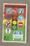 Stamps Thailand -  Seguridad en el tráfico