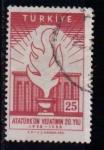 Sellos de Asia - Turquía -  20º aniv. de la muerte de Ataturk