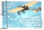 Stamps Spain -  AVIACIÒN.  CENTENARIO  DE  LA  AVIACIÒN  EN  CANARIAS.