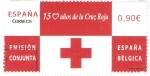 Sellos de Europa - España -  150  AÑOS  DE  LA  CRUZ  ROJA