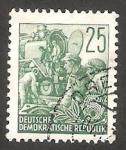 Stamps Germany -  127 - Construcción de una locomotora