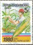 Stamps Dominican Republic -  AÑO  DE  LA  AGRICULTURA.  COSECHA  DE  MAÌZ.