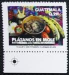 Stamps : America : Guatemala :  Gastronomía Guatemalteca - Plátanos en Mole
