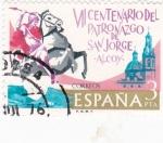 Stamps Spain -  VI Centenario del patronazgo de San Jorge-Alcoy- (16)
