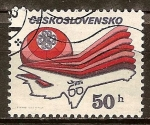 Sellos del Mundo : Europa : Checoslovaquia : Año Mundial de las Comunicaciones y el 60 Aniv de checoslovacos Airlines.