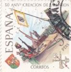 Sellos de Europa - España -  50 Aniversario de la creación de la Legión  (16)