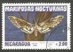 Sellos de America - Nicaragua -  Mariposa nocturna