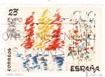 Stamps Spain -  Expo-92 diseño infantil  (16)