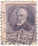 Stamps Spain -  Pi Margall- político (16)