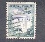Sellos de Africa - Zambia -  Cataratas Victoria