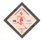 Sellos de America - Rep Dominicana -  CAMPEONES  OLÌMPICOS  Y  BANDERAS.  BETTY  CUTHBERT,  AUSTRALIA.