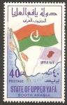 Stamps Yemen -  Estado de Upper Yafá (Arabia del Sur) - Bandera y mapa
