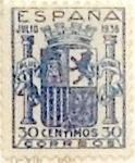 Sellos de Europa - España -  30 céntimos 1936
