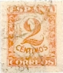 Stamps Spain -  2 céntimos 1936