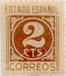 Stamps Spain -  2 céntimos 1937