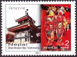 Stamps Nepal -  NEPAL - Valle de Katmandú