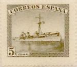 Sellos de Europa - España -  5 céntimos 1938