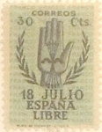 Stamps Spain -  30 céntimos 1938