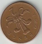 monedas de Europa - Reino Unido -  2 Pence