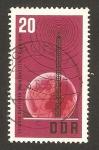 Stamps Germany -  20 anivº de la radio democratica, antena y globo