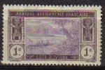 Stamps Africa - Ivory Coast -  A.O.F. COTE D'IVORE Sello Nuevo Paisajes Jungla