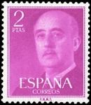 Sellos de Europa - España -  ESPAÑA SEGUNDO CENTENARIO NUEV Nº 1158 ** 2P PURPURA