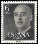 Sellos de Europa - España -  ESPAÑA SEGUNDO CENTENARIO Nº 1161 ** 6P GRIS NEGRUZCO FRANCO