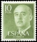 Sellos de Europa - España -  ESPAÑA SEGUNDO CENTENARIO NUEV Nº 1163 ** 10P VDE AMARILLO FRANCO.
