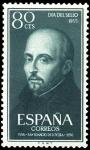 Sellos de Europa - España -  ESPAÑA SEGUNDO CENTENARIO NUEV Nº 1168 ** 80C VERDE SAN IGNACIO DE LOYOLA