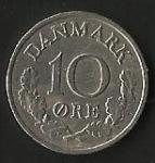monedas de Europa - Dinamarca -  REY FEDERICO IX (FRONTAL)
