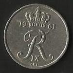 monedas de Europa - Dinamarca -  REY FEDERICO IX (POSTERIOR)