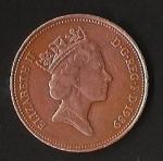 monedas de Europa - Reino Unido -  REINA ELIZABETH II. (POSTERIOR)