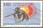 Stamps France -  HOMBRE  TAUTAVEL