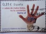 Sellos de Europa - España -  Ed: 4389 - Contra la violencia de Género - Sí sabes de malos tratos,no lo consientas llama al 016