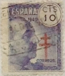 Stamps Spain -  10 céntimos 1940
