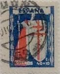 Sellos de Europa - España -  40 céntimos + 10 céntimos 1943