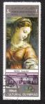 Stamps Yemen -  Young girl, by Raffael