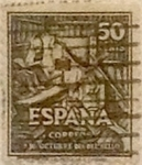Stamps Spain -  50 céntimos 1947