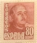 Stamps Spain -  80 céntimos 1948
