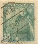 Stamps Spain -  35 céntimos 1948