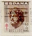 Sellos de Europa - España -  50 céntimos + 10 céntimos 1948