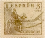 Stamps Spain -  5 céntimos 1949