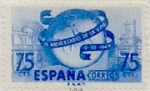 Stamps Spain -  75 céntimos 1949