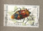 Stamps Thailand -  Catacanthus incarnatus