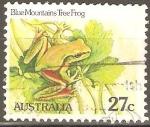 Stamps Australia -  RANA  DE  ÀRBOL,  MONTAÑAS  AZULES.